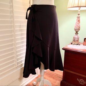 NWOT H & M Black Faux Wrap Skirt